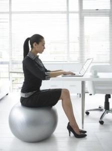 yoga ball desk